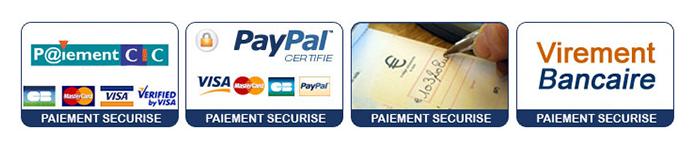 Logos des différents moyens de paiement